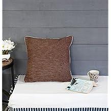 Store Indya, cojines decorativos de cojin de almohadilla de lanzamiento para sofa Juego de 2 fundas 100% algodon Diseno basico Accesorios de ropa de cama