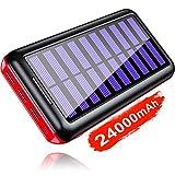 KEDRON Caricabatterie Portatile Power Bank 24000mAh Batteria Esterna 3 Porte USB con 2 Porte di Entrata(Micro 2.4A USB) peraltro Smartphone, Tablets
