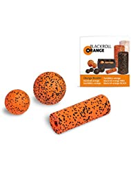 Blackroll Orange (Das Original) DIE Selbstmassagerolle - ZUBEHÖR-SET small inkl. Übungsbooklet