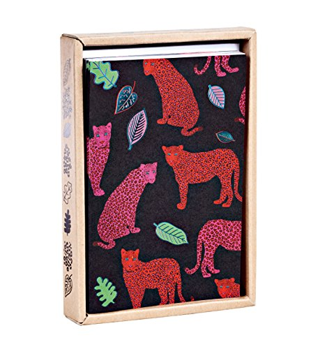 Luxe Leopards Luxe Foil Notecard Box, all occasion notecards in a luxe foil patterned box - Luxe Leopard