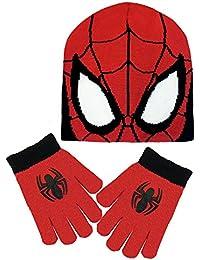 Spiderman Jungen Schal & Handschuh Set rot