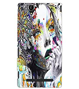 SONY XPERIA T2 NATURE GIRL Back Cover by PRINTSWAG
