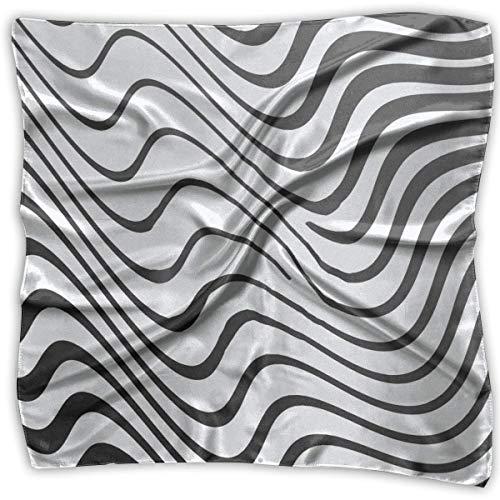 Rghkjlp Square Satin Scarf Zebra Ripple Silk Like Lightweight Bandanas Head Wrap Neck Shawl Headscarf -