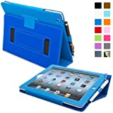 Snugg–Étui en cuir avec fonction support et stylet capacitif pour iPad mini, couleur BLEU bleu Bleu - Bleu iPad 2