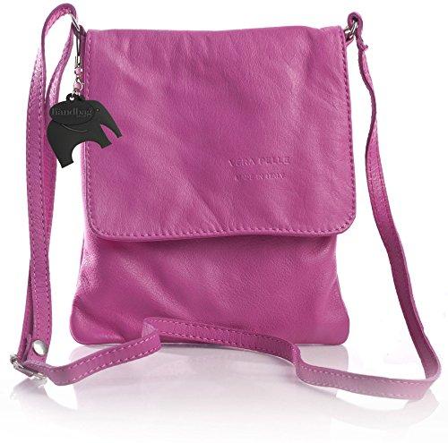 Big Handbag Shop - Borsa a tracolla donna Rosa (rosa)