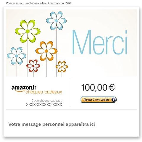 Chèque-cadeau Amazon.fr - E-mail - Merci (fleurs)