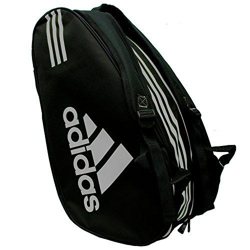 Adidas - Sacca per racchette Control, colore: nero / argento