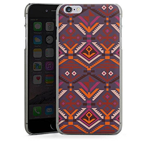 Apple iPhone X Silikon Hülle Case Schutzhülle Ethno Herbst Azteken Muster Hard Case anthrazit-klar