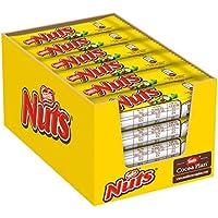 Nestlé Nuts Schoko-Riegel, mit ganzen Haselnüssen, Karamell-Füllung, Milch-Schokolade, 24er Pack (24 x 42g) Großpackung