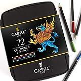 Castle Art Supplies 72 Buntstifte mit Reißverschluss für einfache Aufbewahrung und Schutz Ihrer Buntstifte