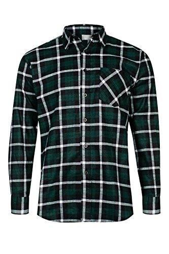 Max Pro Herren Flanell-Hemd Arbeitshemd 100% Baumwolle Grün Gr.XL/43 MP1015_XL (Flanell Hemd Klassisches)