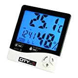 DTY Trading Backlit LCD Digital Temperature Humidity Meter Thermometer With Blue Backlight by DTY Trading