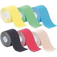 newgen medicals Sport Tape: Kinesiologie-Tapes, Baumwollgewebe, 5 cm x 5 m 6er-Set (Tapebänder) preisvergleich bei billige-tabletten.eu