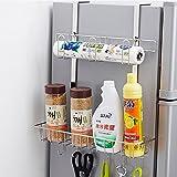 GQY Küche Lagerregal 304 Edelstahl Küche Kühlschrank Rack Kleiderbügel Kühlschrank Rack Seitenwand Regal Haken (größe : 36.5 * 9.5 * 48CM)