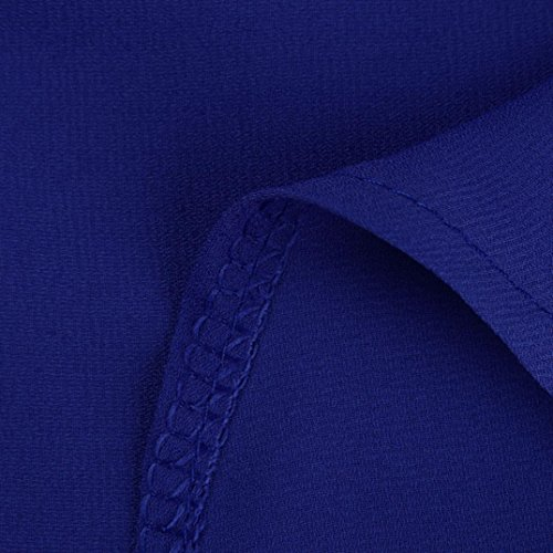 Estate Ol Manica Donne Di Donna Blu ❤️manadlian Sexy Delle Maglietta Della Di Di Lunga Dimensioni Chiffon 2018 Grembiule Seta Grandi Camicetta 5AxR7wUqx
