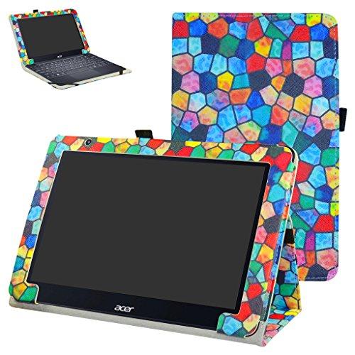 Acer One 10 S1003 Custodia,Mama Mouth slim sottile di peso leggero con supporto in Piedi caso Case per 10.1' Acer One 10 S1003 Windows 10 Tablet 2016,Stained Glass