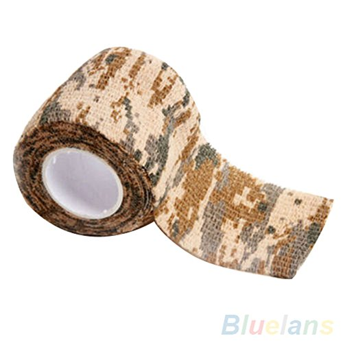 4,5 m x 5 cm Camo Tape Jagd Wandern Camping Outdoor Camouflage Stealth Werkzeug longyitrade gelb