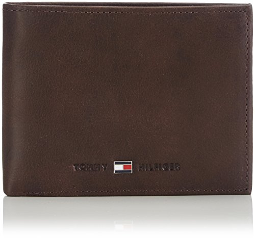 Tommy Hilfiger Johnson Cc And Coin Pocket Porta Carte di Credito, 75 cm, Marrone