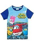 Super Wings Camiseta Para Niño Jett Donnie y Grupo Azul 6 Años