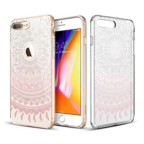 ESR iPhone 8 Plus Hülle, Weiche TPU Rahmen, Hartem PC Rückdeckel [Manjusaka Muster] Schutzhülle für Apple iPhone 8 Plus 5.5 Zoll 2017 Freigegeben. (Volle Ersatz-stoßstangen)