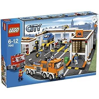 lego 7642 jeu de construction city traffic le garage jeux et jouets. Black Bedroom Furniture Sets. Home Design Ideas