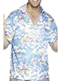 Smiffys Déguisement Homme, Chemise hawaïenne, Taille L, Couleur: Bleu, 25259