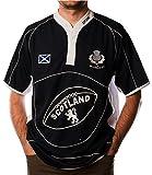 iLuv Maglia da Rugby Manica Corta Navy White Collar Fredda Saltire Distintivo - X-Small