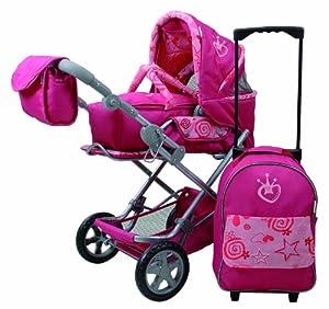 Knorr 61407 Luke - Cochecito de bebé de Juguete con Trolley, Color Rosa