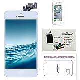 Trop Saint® Display Weiß LCD Für iPhone 5 Bildschirm Komplett mit Magnetische Schraubekarte, Werkzeug, Anleitung und Bildschirmschutzfolie
