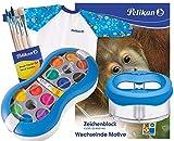 Pelikan Deckfarbkasten Space+ 735 SP/12 mit 12 Farben und 1 Tube Deckweiß (Blau Komplett-Set)