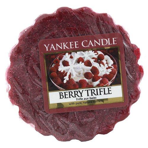 Yankee Candle Berry Trifle Tart da Fondere, Cera, Rosso, 5.9 x 5.7 x 1.7 cm