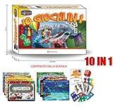 Brettspiel FUN GAMES ROLLE 10 IN 1 CARD DOMINO ROCKY 132.044