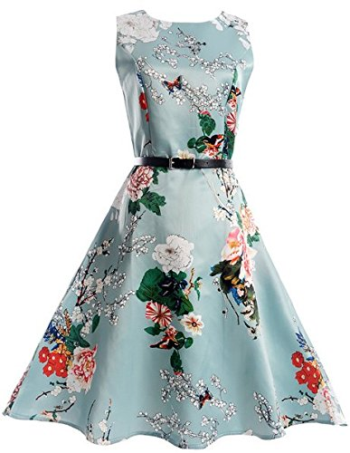 agogo-1950s-girls-sleeveless-round-neck-vintage-retro-cotton-floral-dresses-12-13-yrs-pattern-1