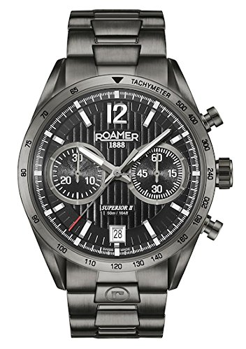 ROAMER Herren Analog Quarz Uhr mit Edelstahl Armband 510902 45 54 50