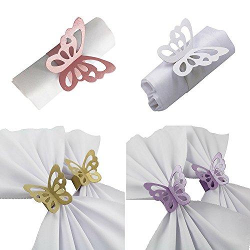 tück von Schmetterling Schmuck Zubehör Hotel Supplies hochwertiges Papier Set für Geburtstag Weihnachten Neues Jahr Abendessen Ringe Schmetterlinge handgefertigt Dekorationen Ringe Packungen (Thanksgiving-papier, Geschirr)