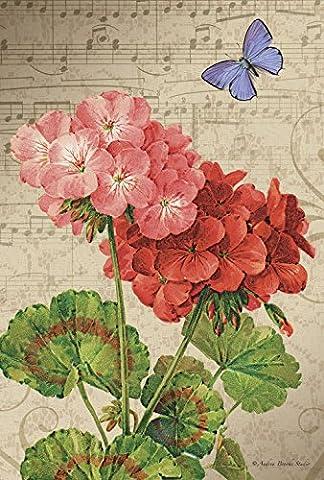 Toland Home Garden Geranium Arrangement Decorative USA-Produced Garden Flag, 12.5