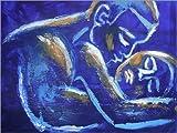 Posterlounge Holzbild 40 x 30 cm: Liebhaber -Nacht der Leidenschaft 6 von Carmen Tyrrell