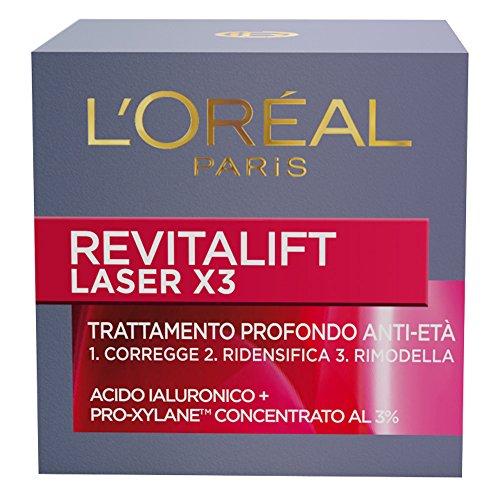 L'Oréal Paris Revitalift Laser X3 Crema Viso Profondo Anti-Età Giorno, 50 ml