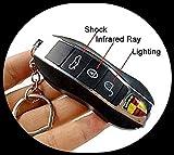 TEMPT® - Fake Remote Control Key Car Shock Keychain (Black)