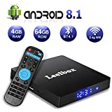 Android TV Box 8.1, Leelbox 2019 Newest Q4 MAX 4GB RAM+64GB ROM Smart