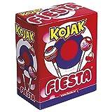 Fiesta Kojak Caramelo con Palo Relleno de Chicle Sabor Cereza - 100 Piezas s