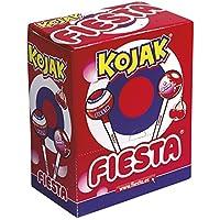 Fiesta Kojak Caramelo con Palo Relleno de Chicle Sabor Cereza - 100 Piezass