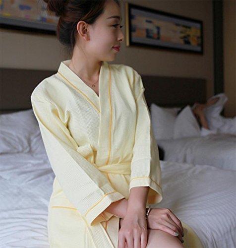 Cool Bad und der Komfortable Bademäntel aus Baumwolle Gelb