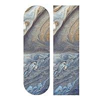 LMFshop 33.1x9.1inch Sport Outdoor Skateboard Sticker Jupiter Planet Big Red Stains Space Space Travel Print Waterproof Grip Tape For Dancing Board Double Rocker Board Deck 1 Sheet