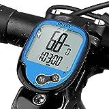 INTEY Fahrradcomputer Kabellos, Wasserdicht Drahtloser 13 Modi Fahrradtacho mit Hintergrundbeleuchtung LCD Display für Radsport Realtime Speed Track