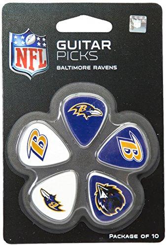 nfl-baltimore-ravens-guitar-pick-10-pack-1-inch-x-1-3-16-inch-purple