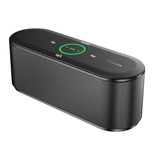 Honstek K8 Bluetooth 3.0 Enceinte portable sans fil, stéréo HD Sound, Touch Control, avec 2 * 5W Puissance de sortie, lumières LED, Durable vie 6 heures Batterie