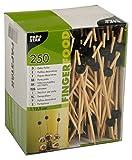 Papstar Fingerfood-Spieße/Holzspieße Black Pearl (250 Stück) 12.5 cm, Naturholzspieße aus Bambus mit schwarzer Perle, für Grillgut, Fingerfood und Antipasti, stilvolles und modernes Design #11300