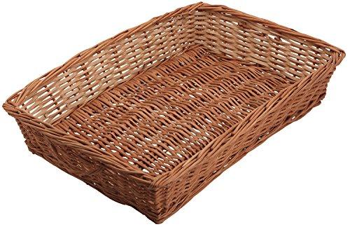 Aashi Enterprise Bamboo Cane Basket, 48x33x13cm (Brown)