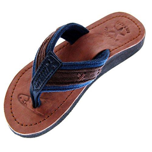Seestern Sportswear SEESTERN Jungen Leder Zehentrenner Zehensandale Zehensteg Sandalen Größe 25-36/FBA_1660 Navy EUR 34